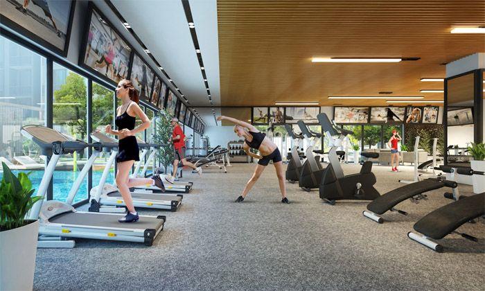 thiet ke phong gym dep 7 58eae110727 - Top 10 mẫu Thiết kế phòng gym khách hàng thích mê, quên cả lối về